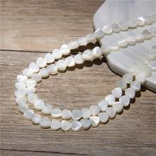6 8 millimetri Bianco Naturale Madre di Perla Borsette Amoroso Del Cuore Della Pesca Cuori Perline per Gioielli FAI DA TE Che Fanno 15