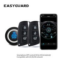 Gps-Tracker Start-Stop Security-Alarm Remote-Start Entry-Engine EASYGUARD Smartphone