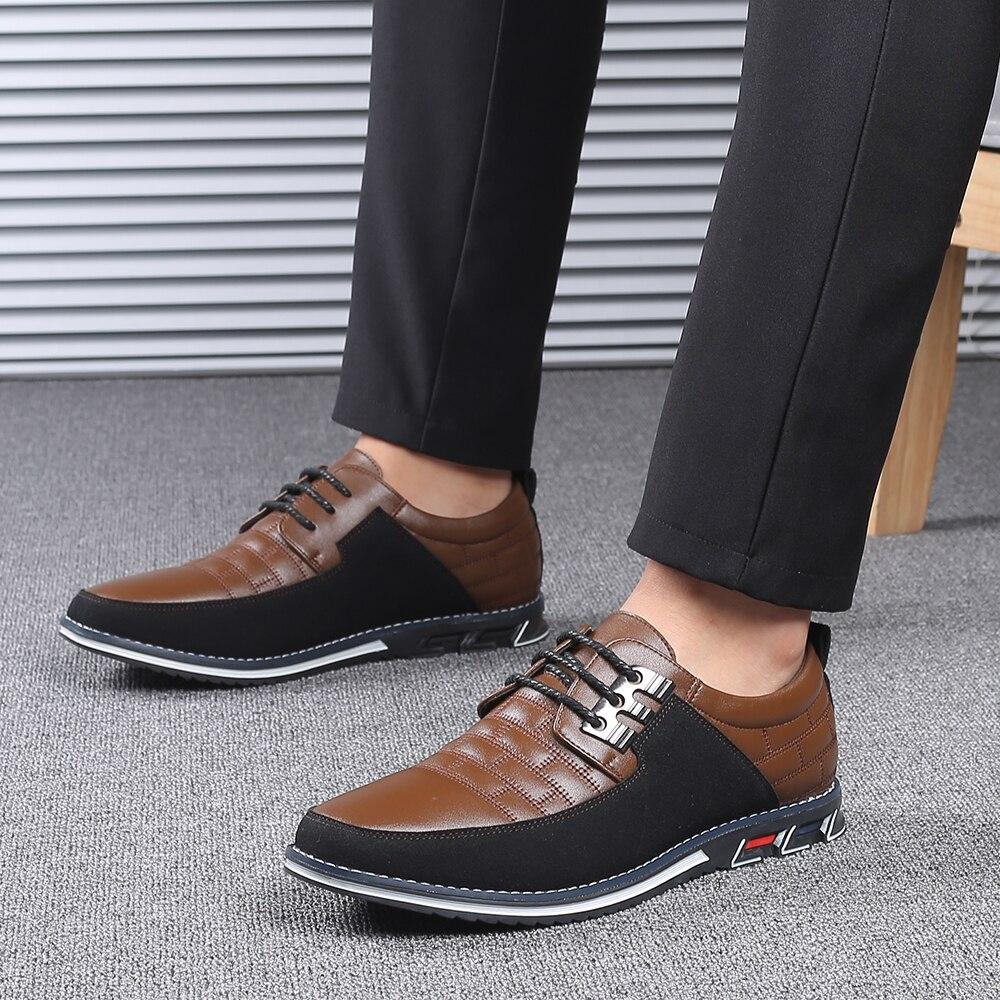 Ha0d3ab40296143d0904603a5edd3620aF 2019 New Big Size 38-48 Oxfords Leather Men Shoes Fashion Casual Slip On Formal Business Wedding Dress Shoes Men Drop Shipping
