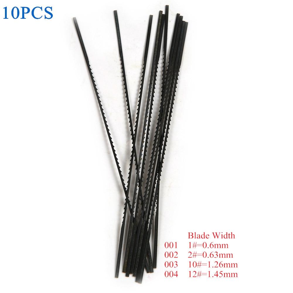 10Pcs Carbon Steel 130mm Black Saw Blades Cutter Blades Width 1# 2# 10# 12# Jewelry Metal Wood Cutting Scroll Spiral Teeth