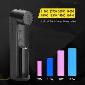 Image 4 - VOXLINK pil şarj cihazı akıllı şarj 1 yuvası USB 18650 26650 18350 32650 21700 26700 26500 Li ion şarj edilebilir pil şarj cihazı
