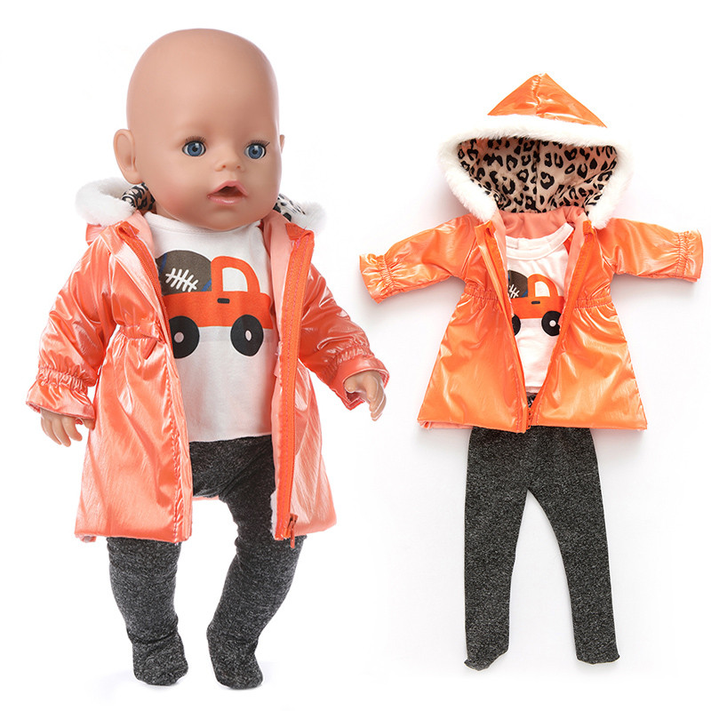 2020 New Down Jacket Doll Clothes Fit For 43cm/17inch Baby Doll Reborn Babies Clothes And 17inch Doll Accessories
