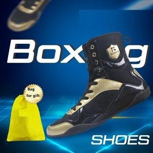 Botas de boxeo para adultos, hombres y mujeres, levantamiento de pesas, Lucha, levantamiento de pesas, artes marciales, equipo de combate