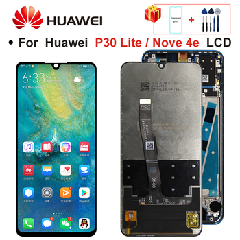 2312*1080 Original LCD With Frame For HUAWEI P30 Lite LCD Display Screen For HUAWEI P30 Lite Screen Nova 4e MAR-LX1 LX2 AL01 1
