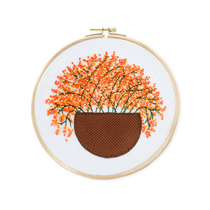 Gypsophila Patterns Embroidery Kits Plant DIY Embroidery Materials Package Hoop bordado Decoration Paintings Sewing Supplies