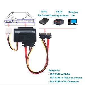 "Image 5 - EN Labs 2.5 ""3.5"" IDE HDD SATA 변환기 Adapte 카드, IDE 40 핀/44 핀 하드 드라이브 디스크, DVD 버너 SATA 마더 보드"
