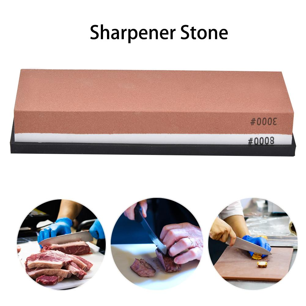 2-IN-1 Sharpening Stone Kit 3000/8000 Grit Knife Red White Sharpener Anti-slip Mat Polishing Tool For Kitchen Hunting Knives