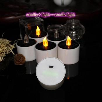 Światło świec słonecznych świeczka bez ognia światło akumulatorowa lampa LED światło świec s lampy herbaciane do domu świeca Jar ogród światło świec Led tanie i dobre opinie CN (pochodzenie) Świeczka led Filar Home decoration Świeca lampy Bezpłomieniowe Other Candles Light Solar Power Candle Light