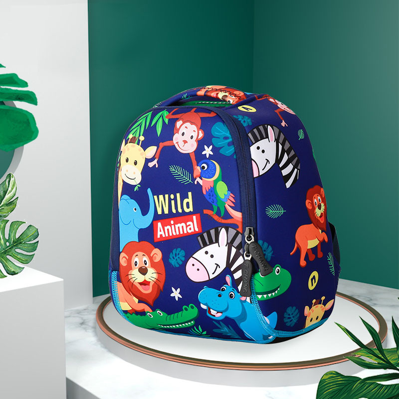 New Products CHILDREN'S School Bags Baby Cute Cartoon Wild Animal Backpack (Need To Pay By Oneself)