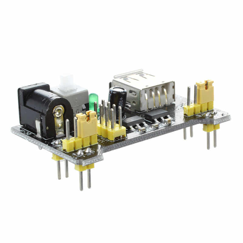 3.3V 5V Breadboard Power Supply โมดูลสำหรับ MB102 Solderless Breadboard