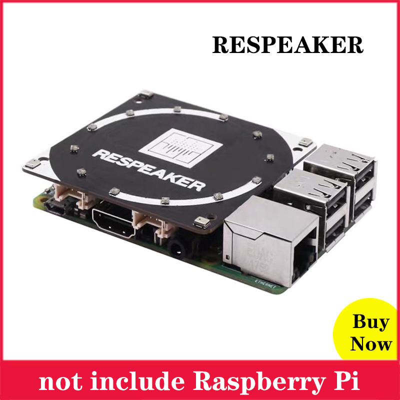 Raspberry Pi ReSpeaker 4-Mic Array Microphones Array AI Voice Quad-microphone Expansion Board For Raspberry Pi 4B 3B Zero