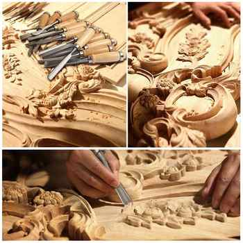 High Quality Wood Carving Chisels Tools Set Hand Gouges For Woodworking Polished Wood Carving Chisels Tools
