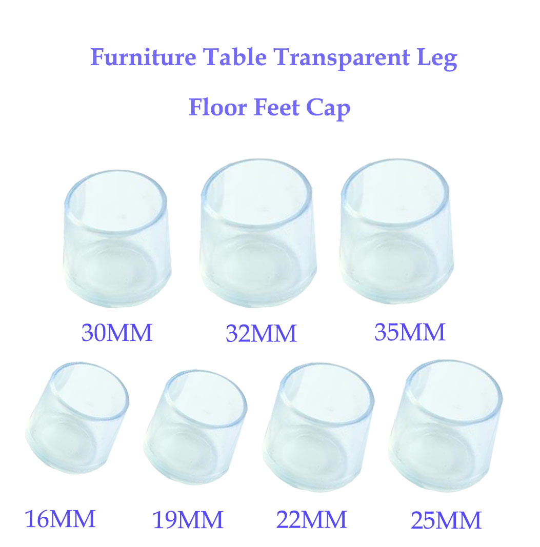 8pcs Silicone Chair Leg Caps Feet Pads Furniture Table Chair Leg Floor Feet Cap Cover Protector Transparent  Furniture Legs