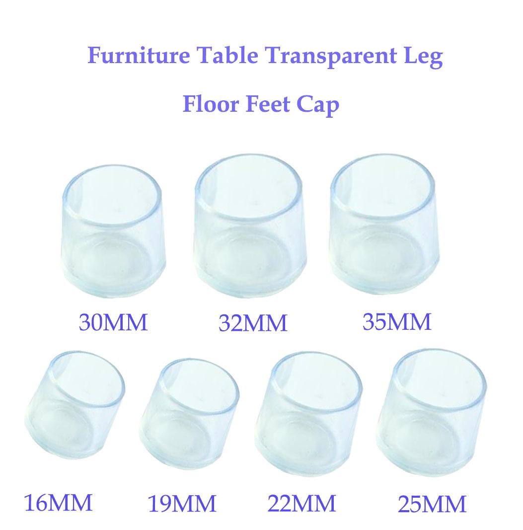 8pcs Silicone Chair Leg Caps Feet Pads Furniture Table Chair Leg Floor Feet Cap Cover Protector Transparent  Furniture Legs