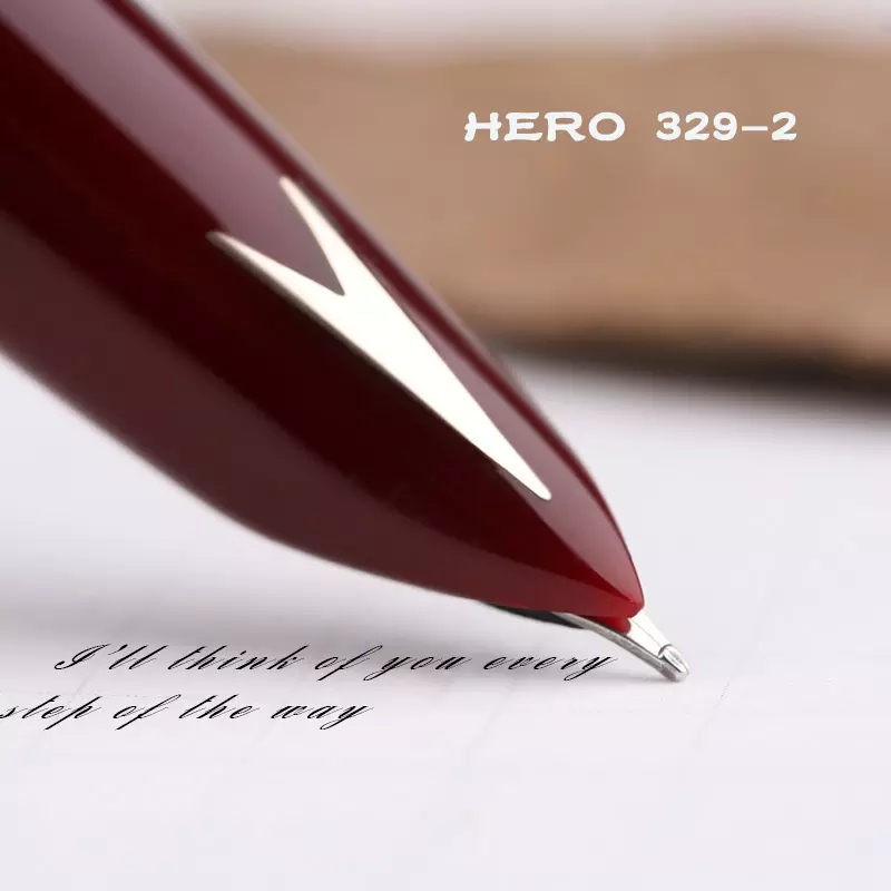 Early HERO 329-2 Fountain Pen Arrow Embed Vintage Ink Pen Aerometric Filler Business Stationery Office School Supplies Writing
