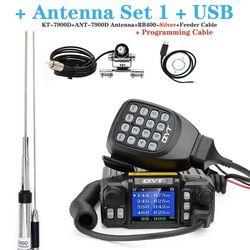 Neueste Version Mini Mobile Radio QYT KT-7900D 25W Quad Band 144/220/350 / 440MHz KT7900D UV transceiver oder mit netzteil