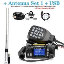 Mais recente versão mini rádio móvel qyt KT-7900D 25w quad band 144/220/350/440mhz kt7900d transceptor uv ou com fonte de alimentação