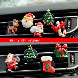 Car Perfume Clip Fragrance Air Vent Freshener Christmas Tree Gifts Auto Interior Outlet Decoration Accessory Trim Diffuser