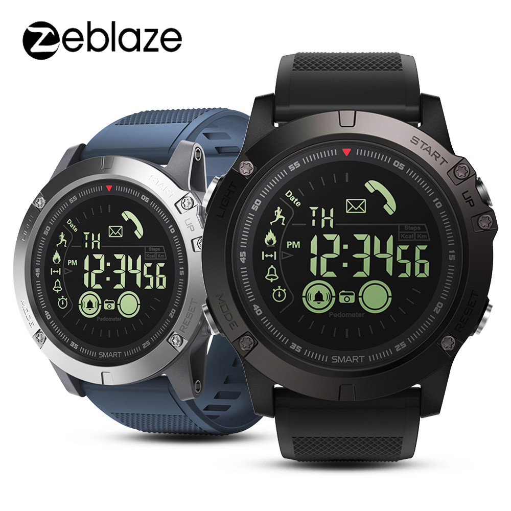 New Zeblaze VIBE 3 Flagship Rugged Smartwatch 33-month Standby Time 24h All-Weather Monitoring Smart Watch For IOS Android Watch orologio delle forze speciali