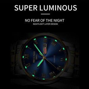Image 5 - Belushi Gold watches Classics 2020 New Luxury Brand Watch Men Waterproof  Stainless Steel Man Watches Date Clock Erkek kol Saati
