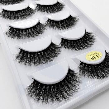 5 Pairs eyelashes 3d mink lashes eyelash extension natural false eyelashes volume lashes maquillaje mink eyelashes makeup cilios 1