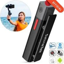 SmartMike + Sans Fil Stéréo Micro Cravate pour Les Créateurs de Contenu Caméra Téléphone Revers vidéo Micro à Vloguer Youtuber Denregistrement