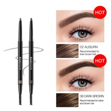 Triangle Double Head Eyebrow Pencil Eyebrow Tattoo Makeup Waterproof Long Lasting Paint Tattoo Eyeliner 6 Colors 50 colors tattoo