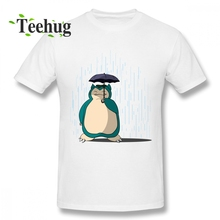 For Man Men Snorlax T-shirt Casual Streetwear 100% Cotton Male T SHIRT