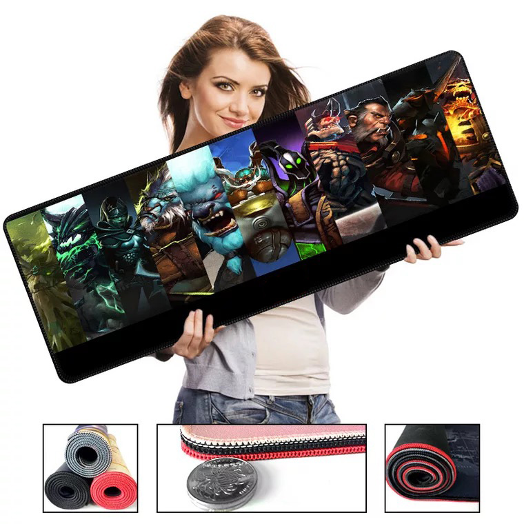 700*300*2 Size PC Game Series High Speed New Mousepad Large Gaming Big Mouse Pad Lockedge Mouse Mat Keyboard Pad For DOTA 2
