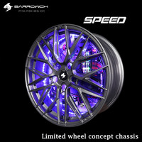 Barrow PC Water Cooling Speed Series Limited Wheel Hub Concept Case Global Limited Edition Special Case Tempered Glass FBHBS 01