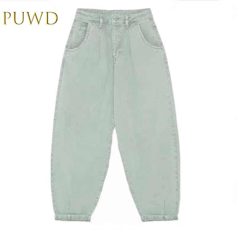 PUWD Fall New Women's Fused Trim Baggy Jeans Radish Jeans 06147159982