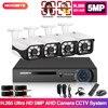 Wideo zestaw do nadzorowania 1080P 5MP HD DVR 4CH System CCTV dla domu 4 kamera ochrony 2000TVL wideo na zewnątrz System nadzoru
