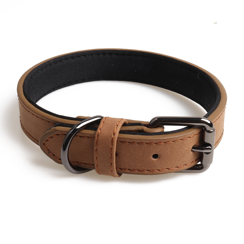 Amin Lattice New Products Pet Collar Double Layer Pu Gou Neck Ring Protection Dog Neck Manufacturers Direct Selling Cross Border