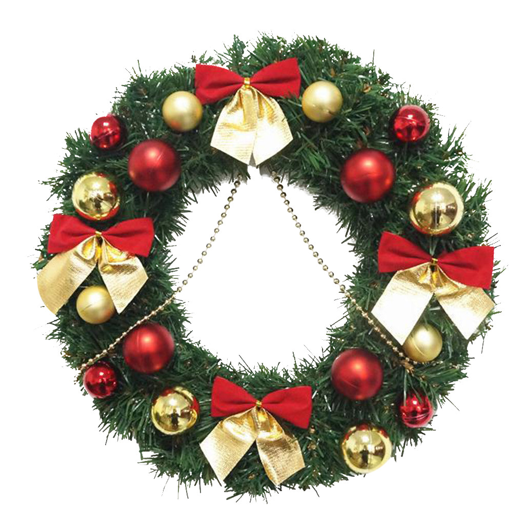 Garland Arrangement Christmas Ornament Christmas Wreath Decorative 30CM Garland flower frame Home Decor DIY floral Wreath