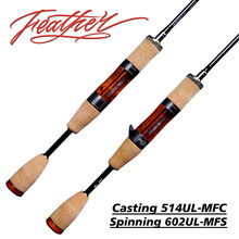 S602UL/C514UL 75.1/78.3g plume ultralégère Finesse Baitcasting toupie truite Portable courant voyage tige 2/4 Section FishingRod