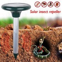 Питание Отпугиватель вредителей Солнечный грызун открытый двора ультразвуковой Эффективный мышь дома и сада мульти Пульс Vole насекомое змея