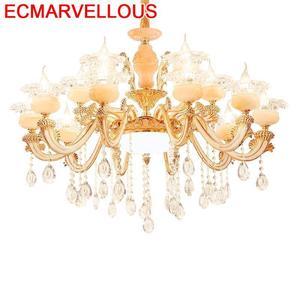 Lampara De Techo Colgante, современный подвесной светильник в стиле лофта с украшением из кристаллов, подвесной светильник в стиле чулок