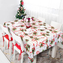 2020 New Year Table Cloth Christmas Plastic Rectangular Tablecloths House Decoration 175*145cm