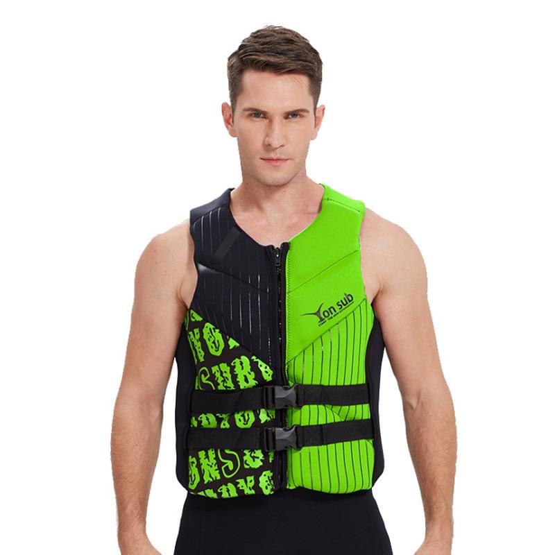 2019 Life Vest Professional Life Jacket Surfing Vest Motor Boat Vest Neoprene Super Elastic Buoyancy Protective Vest