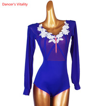 Ballroom Dance Top Mesh Body Suit Practice Clothes Profession Custom Female Child Adult Elegant Profession Exercise Clothing