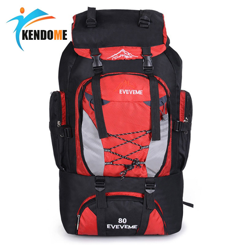 Men's 80L Large Hiking Mountaineering Backpack Climbing Hiking Backpack Camping Backpack Sport Outdoor Rucksack Bag