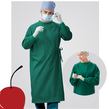 Pure cotton surgical gown men and women long sleeve operating room isolation clothing anti-static non-flocculation surgery