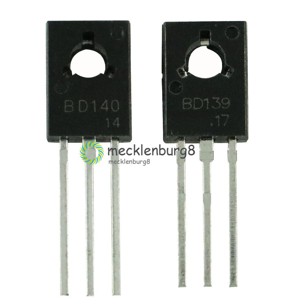20pcs/lot 10PCS BD139+BD140 Each 10pcs Transistor TO-126 NPN PNP 80V 1.5A TO126 Silicon Triode Transistor NEW