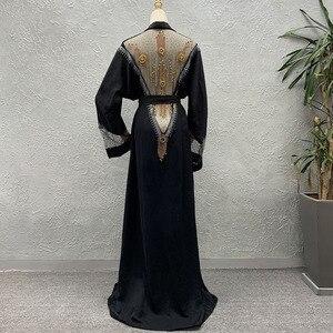 Image 2 - Afrika giyim 2020 yeni pelerin ceket Riche Bazin afrika elbise kadınlar seksi Sequins perspektif hırka pelerin ceket