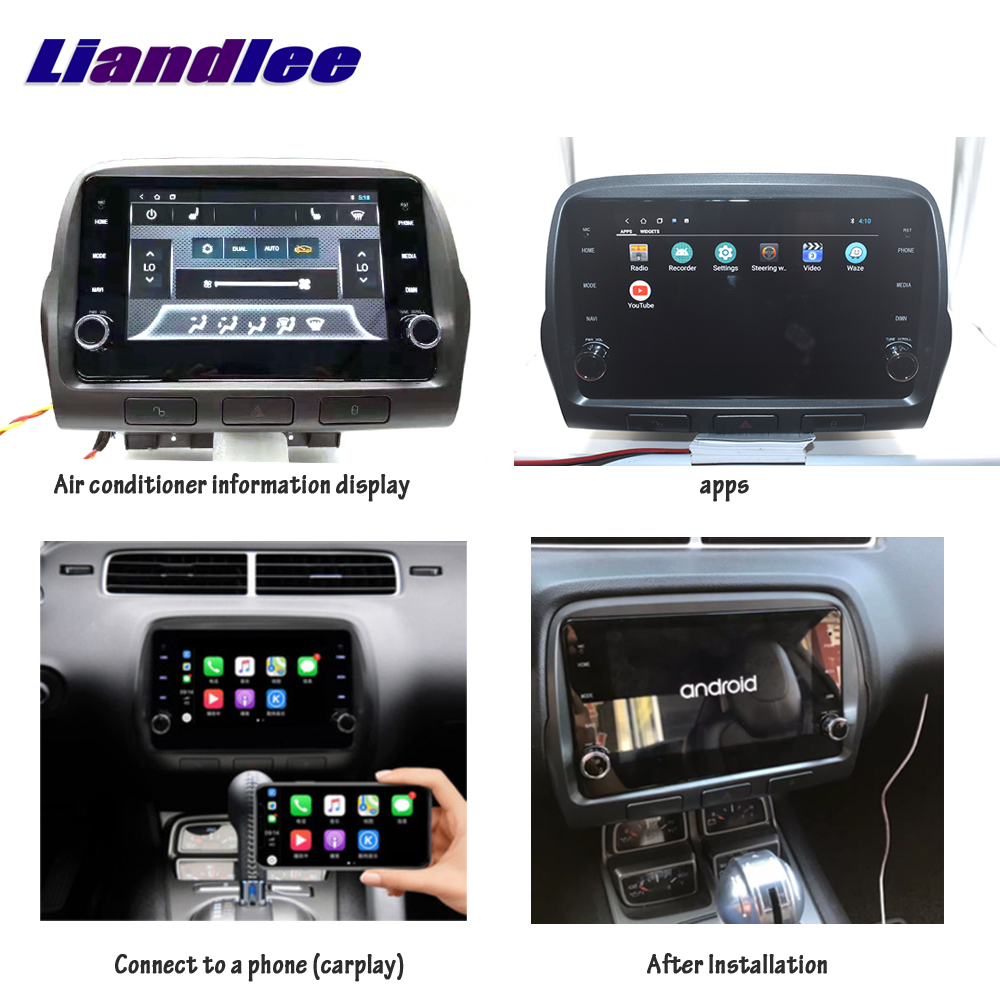 Car Multimedia Android Player For Chevrolet Camaro 2010 2011 2012 2013 2014 2015 radio accessories Carplay GPS Map Navigation image