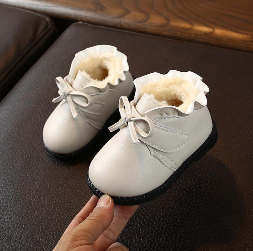 Children kids Martin Winter Boots Snow Baby Warm Shoes Toddler Boys Girls Boot M