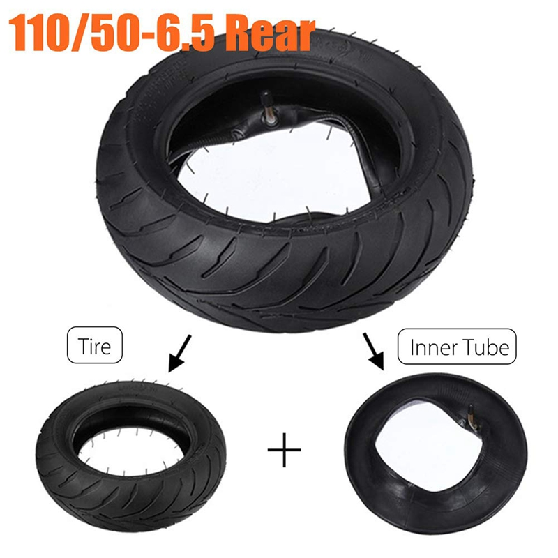 Motorcycle Tire,110//50-6.5 Motorcycle Rear Tire Inner Tube Rubber Motorcycle Tire Replacement Motorcycle Accessories Fits for Mini Pocket Bike 47cc 49cc