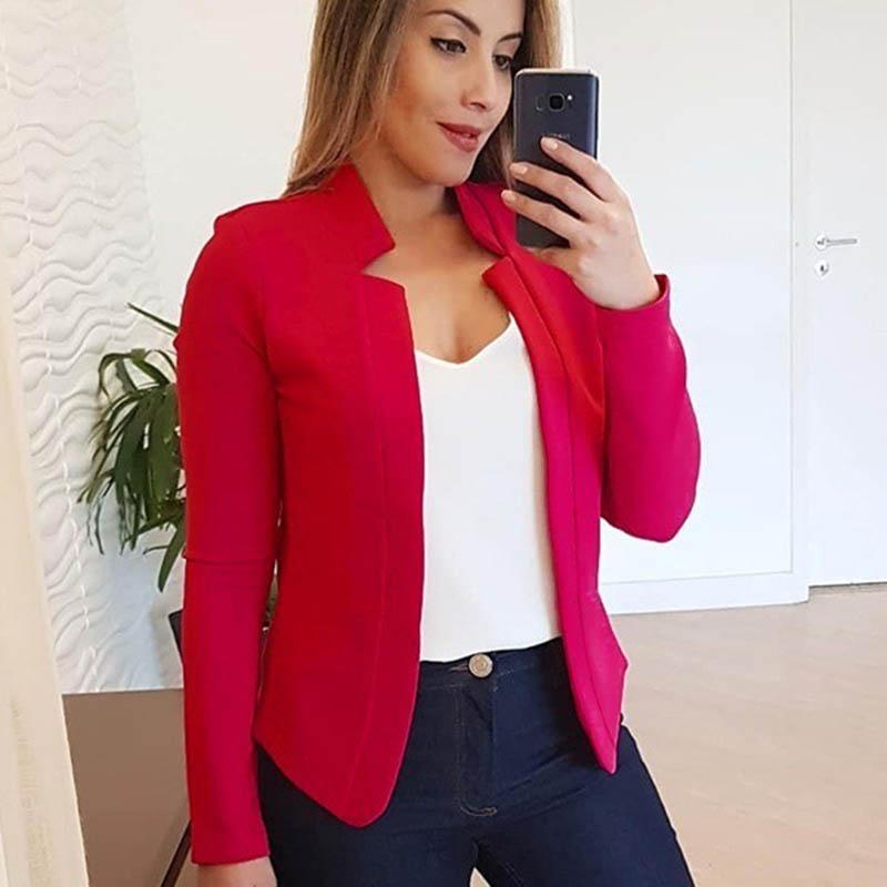 Ladies Blazer Woman 2019 Casual Black Jacket Women Blazers And Jackets Fashion Woman Blazer 2019 Femme Outwear Plus Size 5XL