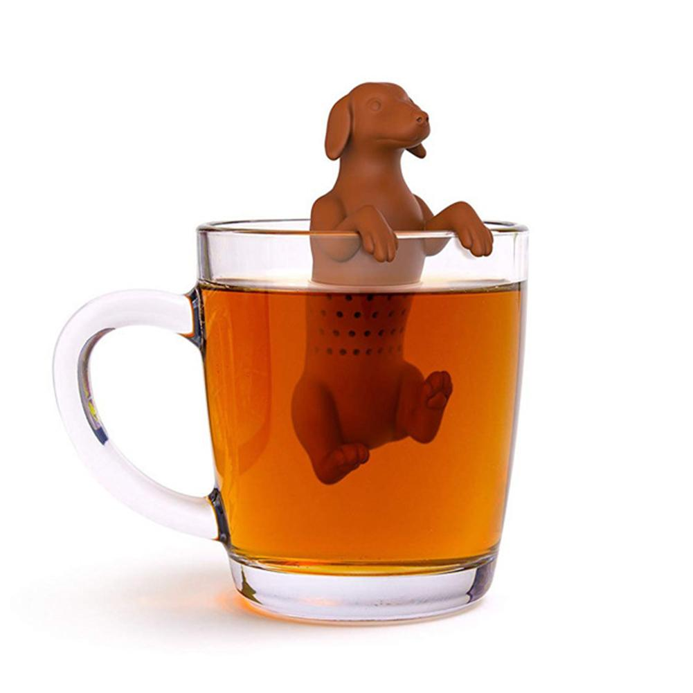 Silicone Tea Strainer Interesting Life Partner Cute Mister Teapot MR Pet Dog Tea Infuser Filter Brewing Making Teapot