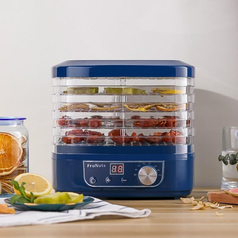 Мини-Дегидратор для пищевых продуктов фрукты сушилка бытовой для защиты детей и домашних животных закуски сушилка для овощей и фруктов 5 лотков закуски осушитель воздуха ЕС
